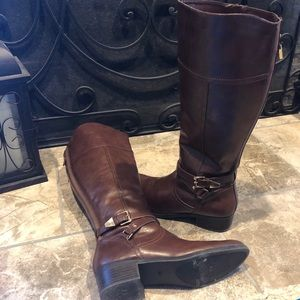 Unisa Wide Calf Tall Boot Brown Size 8.5 M